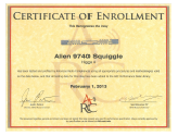 University of Arkansas Radio Compliance Certificate of Enrollment
